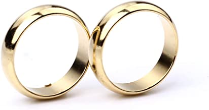 Enjoyer PK Ring Strong Magnetic Ring for Professional Magician Stage Magic Tricks Props Accessory (Gold,20MM)