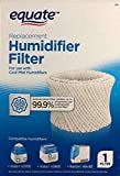 Equate Replacement Humidifier Filter EQWF2 for Use with Cool Mist Humidifiers Compatible with Vicks V3700, V3900, ReliOn WA-8D, Kaz 3020, Sunbeam 1118, 1119, 1120