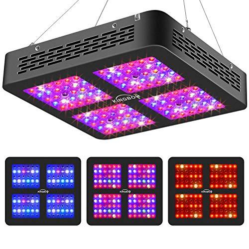 KINGBO Dual Optical Lens-Series 600W LED Grow Light Full Spectrum for...