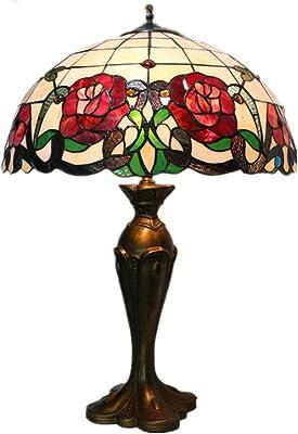 HDDD Lámparas de Mesa de Estilo Tiffany Rosas Rojas diseño de ...
