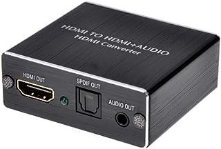 Usee HDMIオーディオ分離器 4Kx2K HDMI + Optical SPDIF Toslink + 3.5mm ステレオ オーディオ分離器 DAC HDMIビデオアダプター HDTV Xbox PS4 PS3 Blu-ray DVDプ...