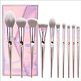 10PCS / Set Herramientas de maquillaje, Ojos Cosméticos en polvo para la cara Pinceles para sombras de ojos Rosa, Juegos de regalo para mujeres.