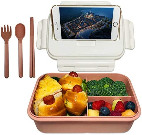 ASYH Bento Box for Kids Adults 3 Compartments Leak Proof Lunch Box Rectangular Reusable Lunch product image