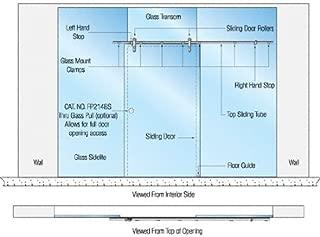 CRL Laguna Series Single Sliding Door With Sidelites Glass Mount Installation Assembly
