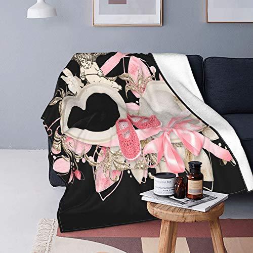 Manta de forro polar ultra suave, para decoración del hogar, manta cálida para sofá cama, 202 x 150 cm