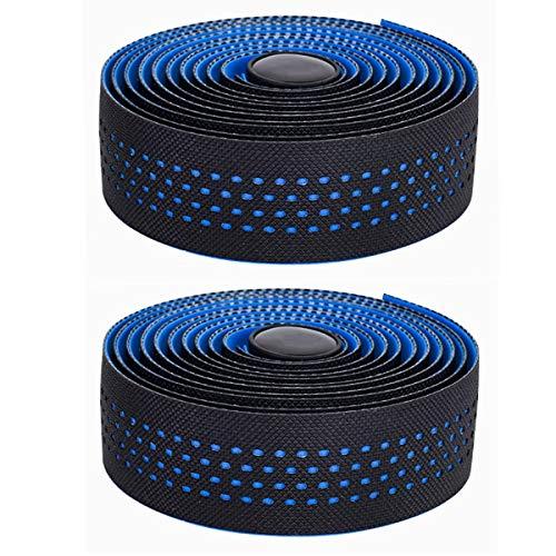 CNC Fahrrad Lenkerband,Rennrad Lenkerband,2 Rollen Lenkerbänder,blau