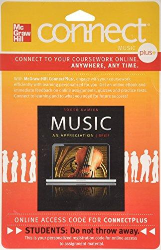 Connect Plus Access Code for Music: An Appreciation Brief 7e
