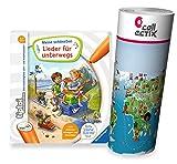 Collectix Ravensburger tiptoi Buch - Meine schönsten Lieder für unterwegs + Kinder Wimmel-Weltkarte | Kinderlieder 4-7 Jahre -
