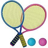 dontdo Lot de 2 raquettes de tennis pour enfants avec 2 balles en maille élastique pour l'intérieur et l'extérieur 9905B