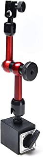 AGPtek 3-joint Red Adjustable Magnetic Base Holder for Digital Dial Indicator