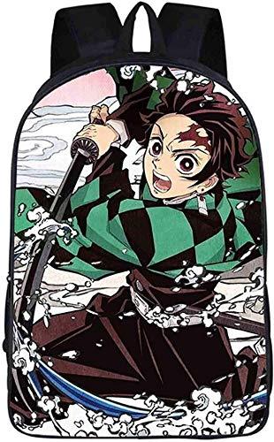 Demon Slayer Mochila con impresión 3d de alta capacidad Anime mochila escolar, mochila ergonómica, unisex (A09,16 pulgadas)