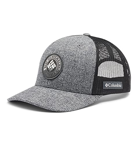 Columbia Mesh Snap Back Hat, Grill Heather, Circle Patch, One Size