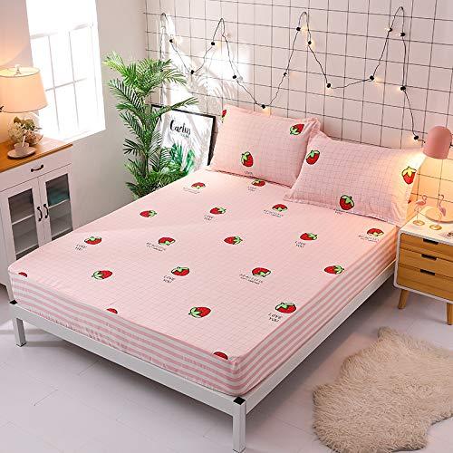 ASDFF Matratzenschoner Baby Baumwolle wasserdichte Bettwäsche Einteilige Einfarbig Milbensichere Bettdecke Urinabscheider Matratzenschoner 160 * 200 cm 6#