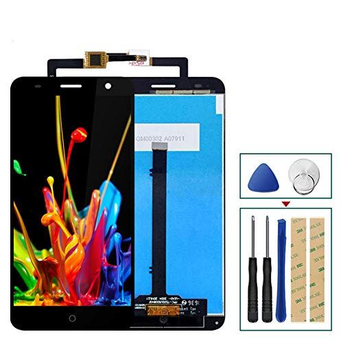 KJGHJ Fit For ZTE Blade V7 LCD Pantalla + Pantalla táctil Conjunto digitalizador Teléfono de reemplazo con Marco + Herramientas Reemplazo LCD Pantalla LCD (Color : Black with Frame)