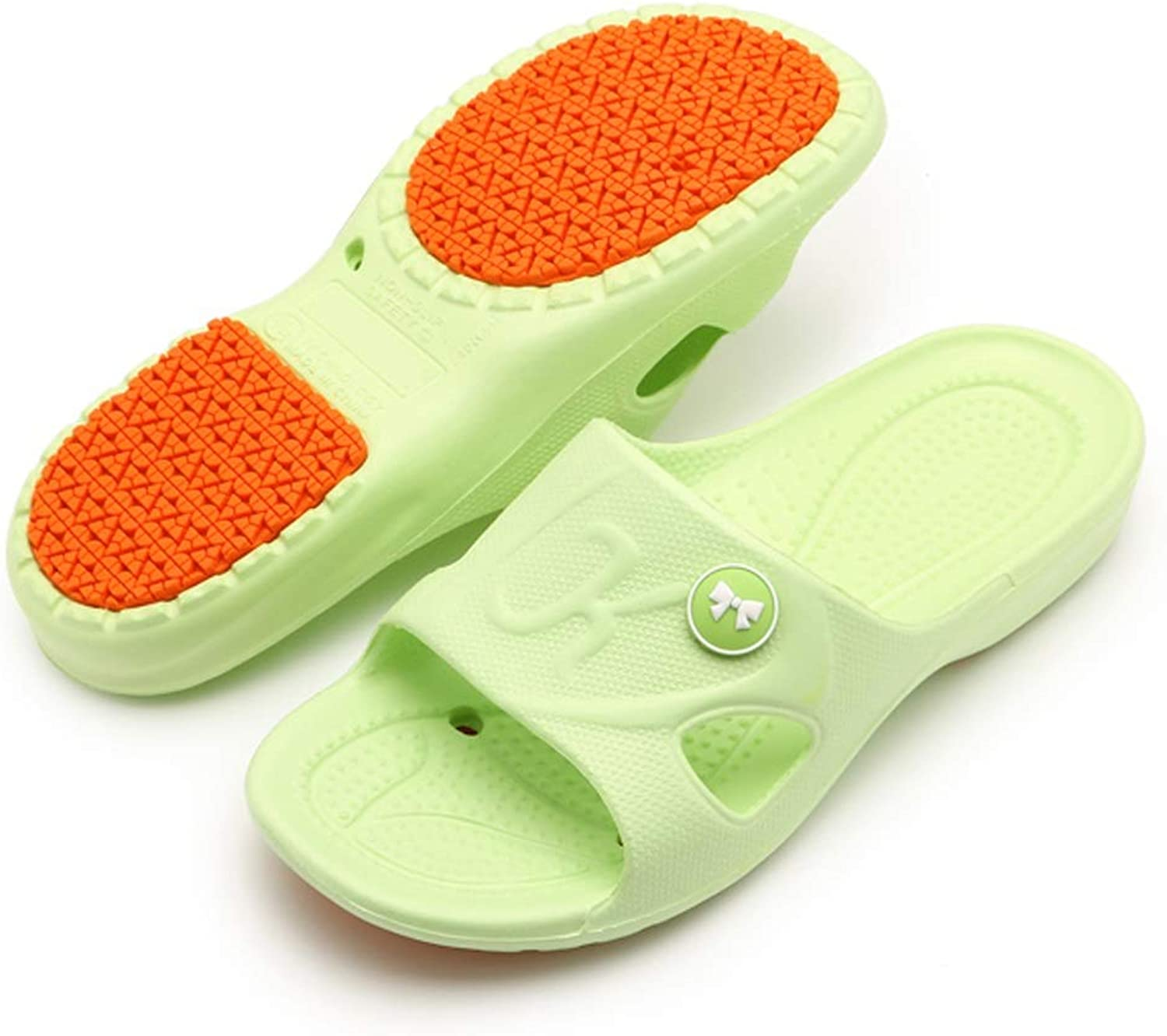Xiao Jian Non-Slip Slippers Massage for The Elderly Men and Women Summer Bath Home Slippers Slippery flip Flop (color   A, Size   43-44)