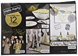 """Throw the best NYE party with the New Year's Eve All-in-One Party Kit featuring a """"Happy New Year!"""" banner and photo booth accessories Includes dinner plates and snack plates with the phrase """"Cheers to a New Year""""; Includes both large and small napki..."""