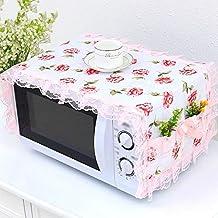Diaod Cubierta for Microondas Muebles de la Cubierta del paño de Cocina Artículos Protector a Prueba de Polvo y con Bolsa de Almacenamiento (Color : B)