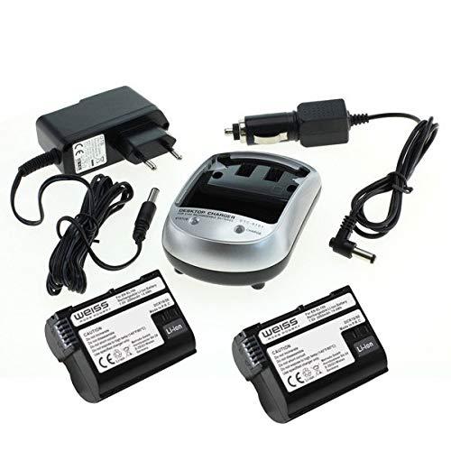 Weiss - More Power + 2X Batterie + Chargeur pour Nikon EN-EL15b Li-ION 2050 mAh Compatible avec Nikon Z6 et Nikon Z7 [Compatible avec Nikon EN-EL15a et Nikon EN-EL15]