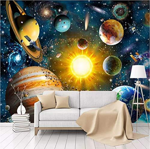 Fotobehang Planeet, Universum muur muurschildering 3D Non-Woven Moderne Home Decoratie voor Slaapkamer Badkamer 250x175cm