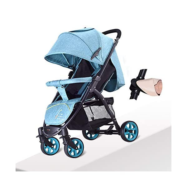 JXCC Baby Stroller High Landscape Children'S Shock Absorber Trolley Can Sit Reclining Baby Car Folding 0-3 Years Old -Safe And Stylish Grey JXCC IDEAL CHOICE FOR DAILY USING OR EXTEND TRAVEL - For families with a passion for local or overseas travel and exploring, it is the perfect priority as it stows away easily in any plane or train overhead bin, or just stowing away in the car BESREY CAPSULE BABY STROLLER WHICH IS SMALL BUT STRONG - Built using high quality, durable materials, the capsule stroller can hold a child from 6 months up to 36 months. BESREY SMALLEST FOLDING STROLLER - With its innovative two-step folding design, the stroller folding down to 84 x 40 x 44CM and a weight of 9KG. 2