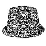 Sombrero del Casquillo del Cubo del Viaje del Verano de la Caza de la Pesca del cráneo del Vintage
