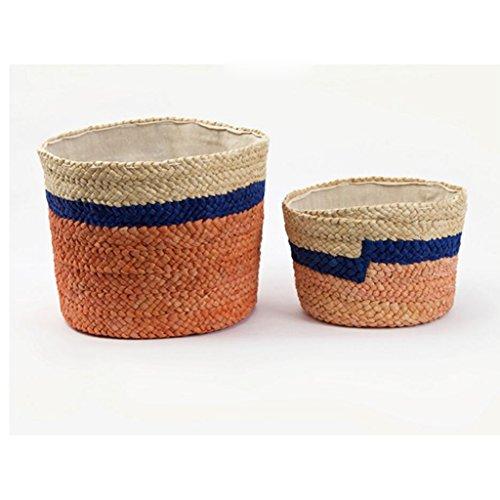 Xuan - Worth Another Paniers de Paille Orange Sales vêtements Panier vêtements Panier Finition boîte Snack Stockage (Taille : Gros)