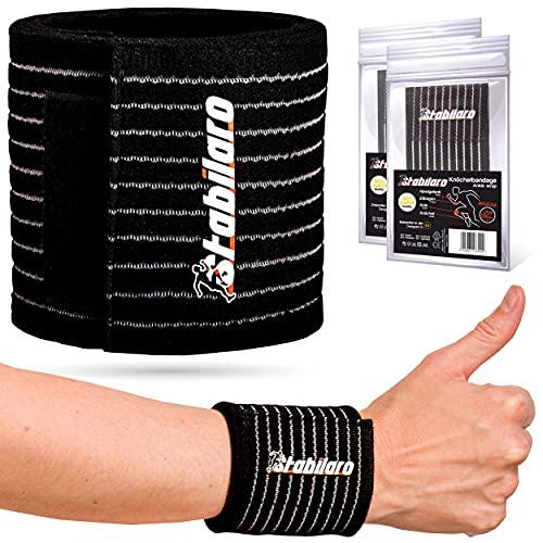STABILARO © Tobillera elástica S-L Unisize para hombre y mujer, tobillera para tobillo débil, para codos y muñecas, lesiones deportivas