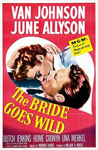 Posterazzi The Bride Goes Wild Us June Allyson Van Johnson 1948 Movie Masterprint Poster Print, (11 x 17), Varies