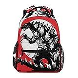 LIUBT Godzilla - Mochila informal con diseño de dinosaurios para estudiantes, viajes, senderismo, camping, portátil