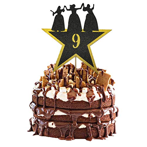 Hamilton Cake Topper 9, Happy 9th Birthday Hamilton Cake Topper for 9 Years Old Boy Girl American Musical Hamilton Birthday Party Decorations