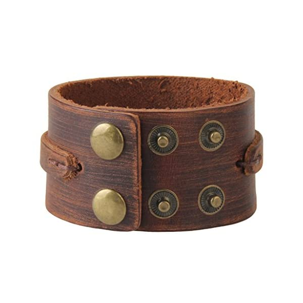 GelConnie Adjustable Braided Leather Bracelet 3