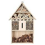 upstartech Casa degli Insetti,Rifugi per Insetti,Casetta per Insetti in Legno,Casetta Casetta in Legno da Giardino api e Coccinelle- Materiali Naturali Balcone Giardino HxLxP: 48 x 26 x 8 cm
