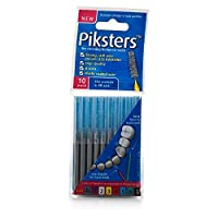 Piksters 0.35 mm Size 0 Silver/Grey Interdental Brush - Pack of 10 by PIKSTERS