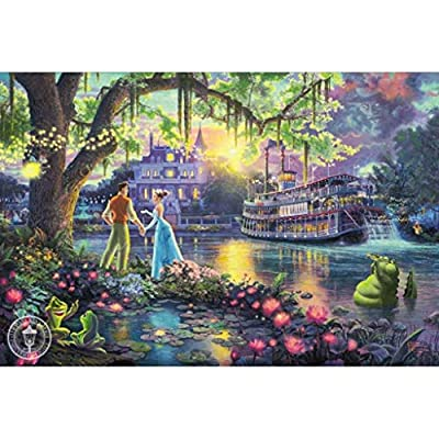 High-Grade B Wooden Puzzle PT Classic Fairytale Wooden Jigsaw Puzzle, Frog Prince Princess Beast Peter Pan Cartoon Painting Perfect Cut & Fit 300~1000pc Boxed Toys Game for Adults & Children -GZZ