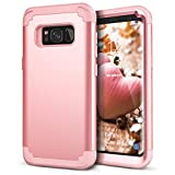 WeLoveCase Galaxy S8 Case, Hybrid Heavy Duty Shockproof Military Armor Protective Case Dual Layer High Impact Protection Case Cover with Extra Conner Cushion Bumpers for Samsung Galaxy S8 (Rose Gold)