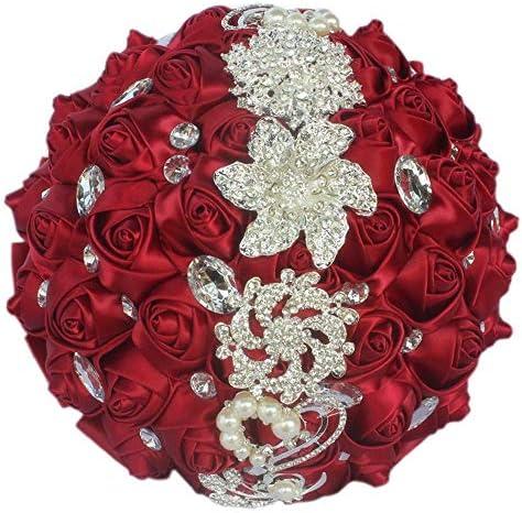 Bouquet de fleurs artificielles pour mariage à tenir par les demoiselles d'honneur par Fouriding