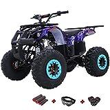 X-PRO Hawk 125 ATV Quad Youth 125cc ATV 4 Wheelers Youth 4 Wheeler ATVs Big Boys ATVs Quads,Big 19'/18' Tires(Spider Blue)
