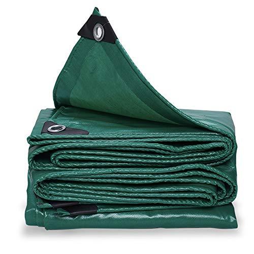 YANFEI Planen, Plane, feuerfestes flammhemmendes Tuch aus Glasfaser PVC wasserdichtes Hochtemperatur-Bodenbelagsplanen-Grün 520g / ㎡ (größe : 4 * 5m)