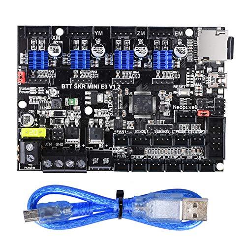 PoPprint BIGTREETECH SKR MINI E3 V1.2 32-Bit-Controller Integrierter TMC2209-UART-Treiber mit Bildschirm vs Cheetah V1.2b SKR E3 DIP für Creality Ender 3