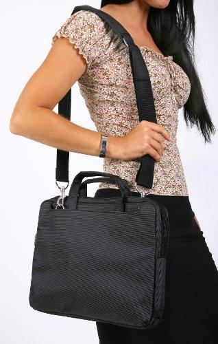 Navitech schwarzes Premium Leder Case/Cover Trage Tasche/speziell für das Odys Seal 9