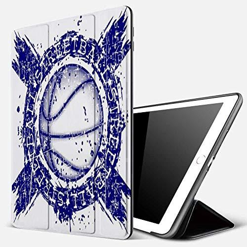 Carcasa con Magnetic Auto-Sueño,Pelota de baloncesto en acción Deportes Recreación Deportista Atleta Grunge Ataque Baller Ba,Ligéra Protectora Suave Silicona TPU Smart Cover Case para iPad 5./6.