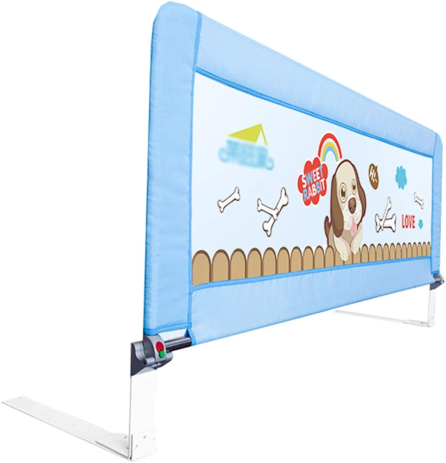 Bedrails Kids Tall Queen Bed Adjustable Folding Toddlers Safety Bed Rails 120cm Long (color   bluee)