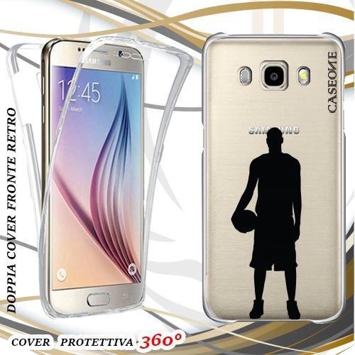 Custodia Cover Case Sport Basket per Samsung Galaxy J5 2016 Front Back Trasparente