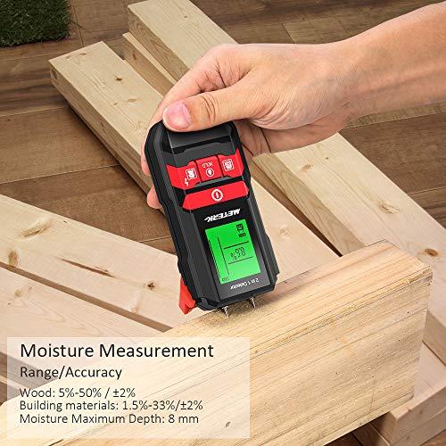Détecteur Numérique de Construction Meterk Détecteur de Matériaux Électrique de Studs en Bois/Métal/AC Fil Détection avec LED/Sound alarm
