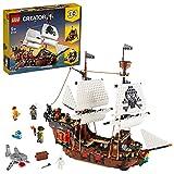 LEGO 31109 Creator 3 en 1 Barco Pirata, Taberna o Isla Calavera, Juguete de Construcción para Niños y Niñas +9 años