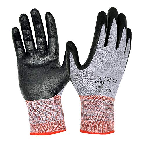 Ultra Durable Safety Work Gloves with Elastic Nylon, Non-slip, Power Grip, 3D Comfort Stretch Fit, Smart Touch Screen, Breathable, Antistatic, Extra Small