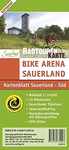 Mountainbikekarte Sauerland - Süd: Bike Arena Sauerland im Maßstab 1:35 000