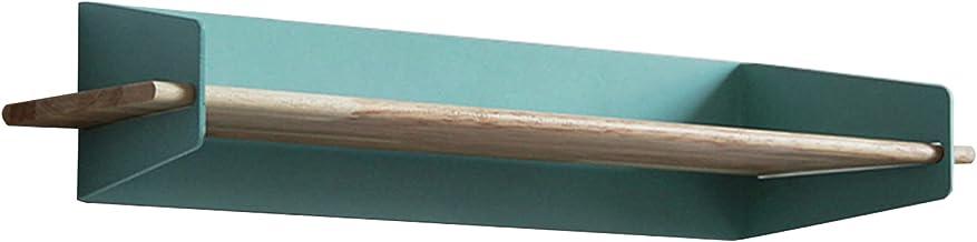 Drijvende plank, multifunctionele houten ijzeren plank opbergplank, gebruikt in kamer, keuken, kantoor, badkamer, lager 15...