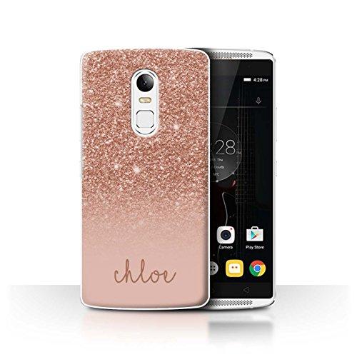 Personalisiert Hülle Für Lenovo Vibe X3 Persönlich Glitter Effekt Roségold Design Transparent Ultra Dünn Klar Hart Schutz Handyhülle Hülle