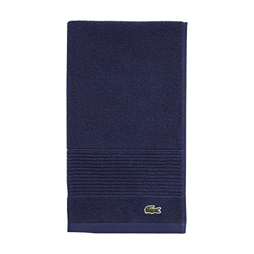Lacoste Legend Towel, 100% Supima Cotton Loops, 650 GSM, 16'x30' Hand, Navy